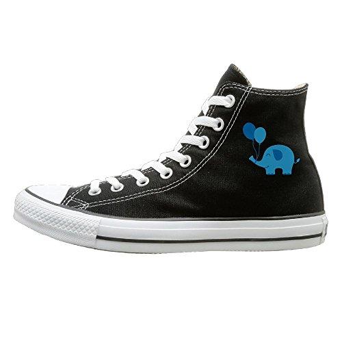 Hilo Canvas Shoes Baby Balloon Elephant Hi-Top Unisex Canvas Sneaker- Season Lace Ups Shoes Casual Trainers Men And Women 39