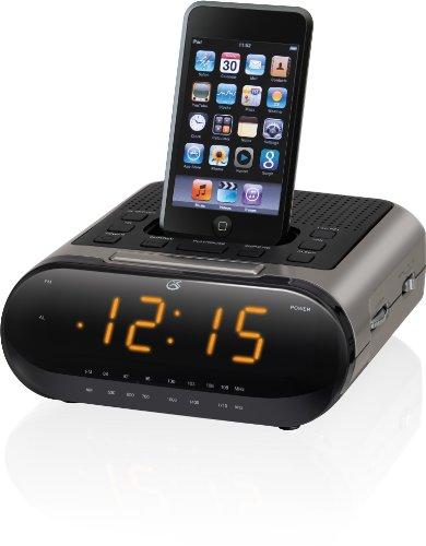 CI189 Large Display Clock Radio with Docking and Recharging