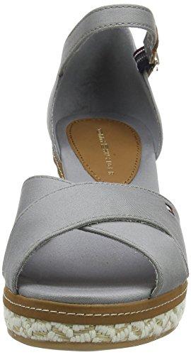 Gris Grey Tommy 31d E1285lba Femme Bout 007 Hilfiger Ouvert Light Sandales Rzp0w7xR