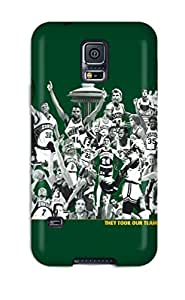 Nafeesa J. Hopkins's Shop Hot seattle supersonics basketball nba poster NBA Sports & Colleges colorful Samsung Galaxy S5 cases 7116780K105207023