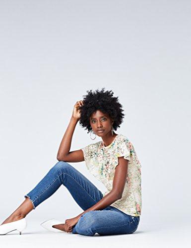 FIND Top de Encaje Estampado para Mujer Multicolor (Ivory Mix)