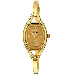 Sonata Wedding Collection Analog Gold Dial Women's Watch -NK8114YM05 / NK8114YM05