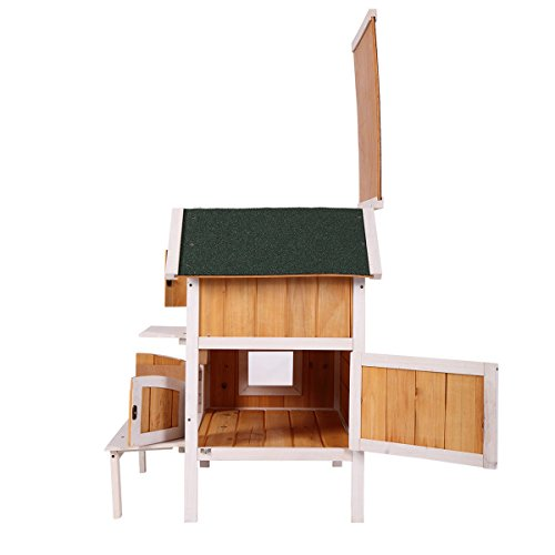 Cat Pet Cottage House Wooden Raised Elevated Indoor
