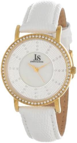 Joshua Sons Women s JS-42-YG Swiss Quartz Stainless Steel Crystal Strap Watch