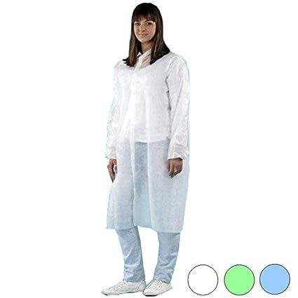 PP desechables de Visitantes Abrigos Medi de Inn – 50 Unidades – Color Blanco – Talla