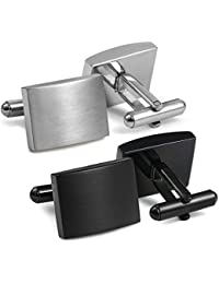 FIBO STEEL Stainless Steel Classic Cufflinks for Men Wedding Business