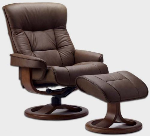 Fjords 775 Bergen Small Leather Recliner Norwegian Ergonomic Scandinavian Lounge Reclining Chair Furniture Nordic Line Genuine Havana Dark Brown Leather ... & Best Leather Recliners: Amazon.com islam-shia.org