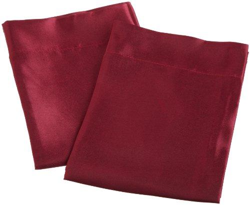 Divatex Home Fashions Royal Opulance Satin Pillow Case Pairs, Burgundy