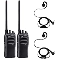 2 Pack of Icom F4011 UHF Analog Two Way Radios PREPROGRAMMED with Comfort Loop Earpiece