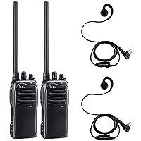 2 Pack of Icom F4011 UHF Analog Two Way Radios PREPROGRAMMED with Comfort Loop Earpiece
