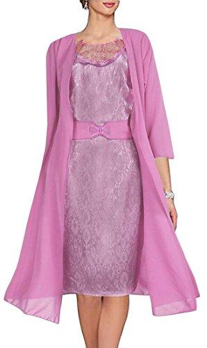 Kleid H cke Farbe Frauen Rosa Reine St t Gesplei Strickjacke Leibchen Kleid nne D Spitze C Zwei OdHqvAwO