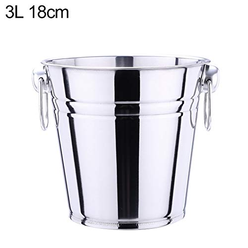 | Ice Buckets & Tongs | 5L Stainless Steel Bar Ice Bucket Two Handles Champagne Bucket Wine Bucket Spit Wine Barrel Container Ktv Club Bar Supplies | by NAHASU - Wholesale Champagne Buckets