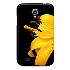 Flexible Tpu Back Case Cover For Galaxy S4 - Yellow Lily Flower
