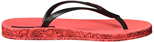 Ipanema Anatomica Soft, Chanclas Para Mujer Mehrfarbig (red/black)