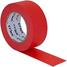 """2"""" inch x 60yd STIKK Red Painters Tape 14 Day Clean Release Trim Edge Finishing Decorative Marking Masking Tape (1.88 in 48MM)"""