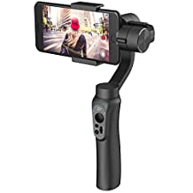 Zhiyun Smooth Q (with Dshot neck strap) Gimbal for Gopro 4 5 iPhone 6 plus 7 plus 8 and Android Phones, App Control, Face-tracking, Panorama mode