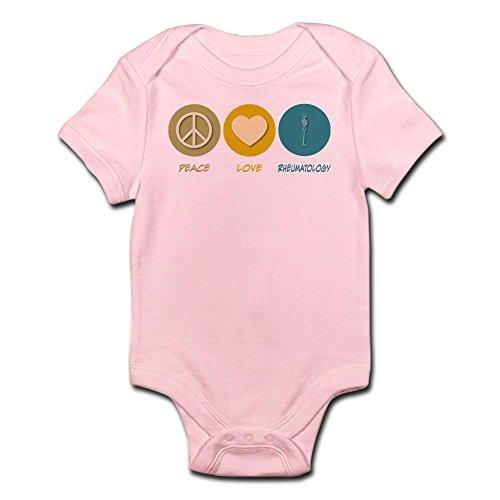 CafePress Peace Love Rheumatology Infant Bodysuit Cute Infant Bodysuit Baby Romper Petal Pink