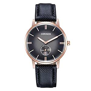 Chronos Casual Watch For Men Analog Leather - CH-1998