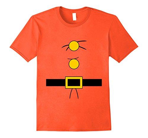 Doc Seven Dwarf Costume (Mens Doc Dwarf Halloween Costume Beard T-shirt Large Orange)