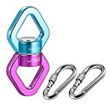 Swing Swivel, 30 KN Pulley, Safest Rotational Device Hanging Accessory with Carabiners for Web Tree Swing, Swing Setting, Aerial Dance, Children's Swing, Hanging Hammock, Hammock Chairs