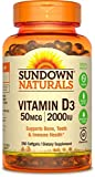 Sundown Naturals Super Potency Vitamin D3, 2000 IU, Value Size, 350 Softgels For Sale
