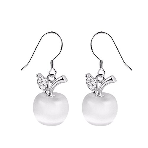 Crystal Mickey Ball - Dyalandy Apple Crystal Earrings - Fashion Ball-Style Earring, Perfect Jewelry Gifts for Your Lover Women's Stud Earrings Mickey Shape Rose Gold Plated Zircon Jewelry Earring for Girls Party Gifts