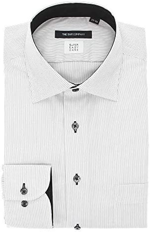 (ザ・スーツカンパニー) SUPER EASY CARE・再生繊維/ワイドカラードレスシャツ 〔EC・BASIC〕 ホワイト×ブラック