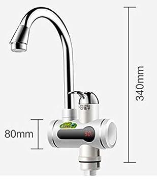 EuroQuality Instant/ánea Sin Tanque Calentador El/éctrico de Agua Caliente Grifo de la Cocina de Calentamiento Instant/áneo Grifo Deluxe Black