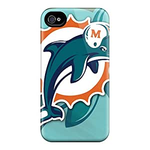 Durable Protector Case Cover With Miami Dolphins Hot Design For Iphone 4/4s