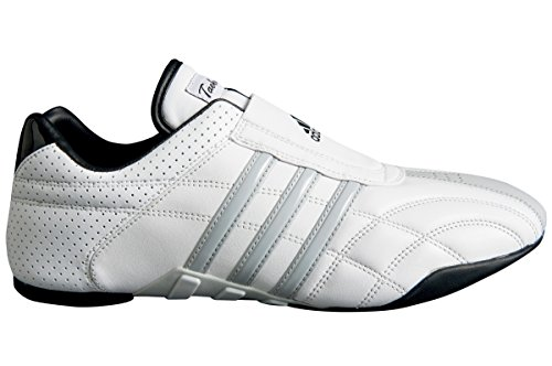 adidas - Chaussures taekwondo Adiluxe cuir bandes grises