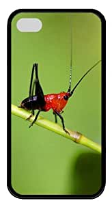 fashion iphone 4S cases Insects and animals 02 TPU Black for Apple iPhone 4/4S