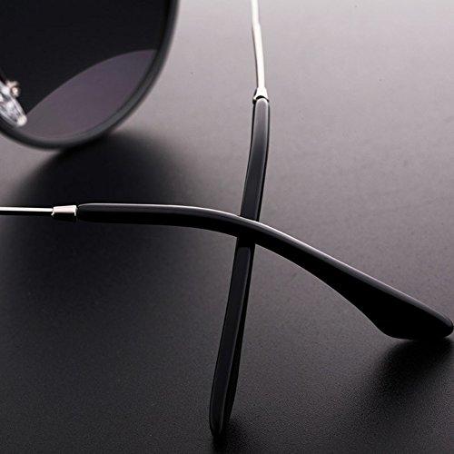 Gafas Purple Decoración Protección Reflexivo Conducción 100 Solar Purple UVA Grande Retro Borde UV Polarizada Black Luz Protección WYYY Sra De de Clásico Color Black gafas Anti sol OnxqXHSw6t