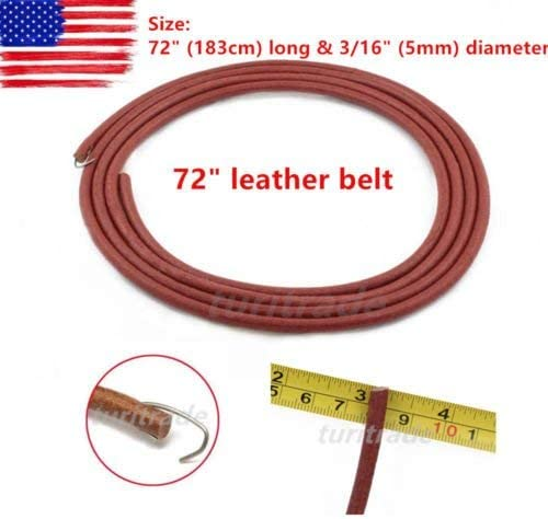 """Leather Belt With Hook For Treadle Singer Sewing Machine 72/"""" x 3//16/"""""""