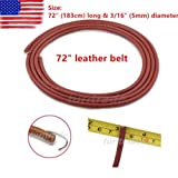"""NEW 72"""" Replacement LEATHER BELT for SINGER TREADLE SEWING MACHINE - 3/16"""" (5mm) US"""