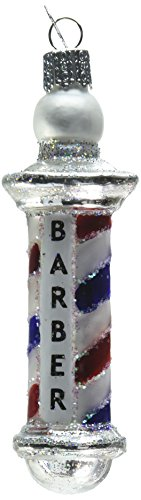 (Old World Christmas Ornaments: Barber Pole Glass Blown Ornaments for Christmas Tree (36126))