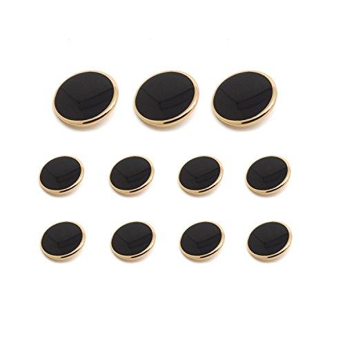 (Funcoo 11 pcs Metal Blazer Button Vintage Antique Suits Button Set for Blazer, Suits, Sport Coats, Uniform, Jacket)