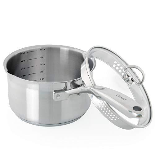Chantal Induction 21 Cookware Double Pour Spout Saucepan wit