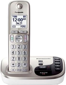 Panasonic KX-TGD220 N – Teléfono inalámbrico, DECT 6.0 – 1 x teléfono línea – Manos Libres Inalámbrico – Contestador automático – Identificador De Llamadas – retroiluminación (KX-TGD220 N)/color: plata: Amazon.es: Electrónica
