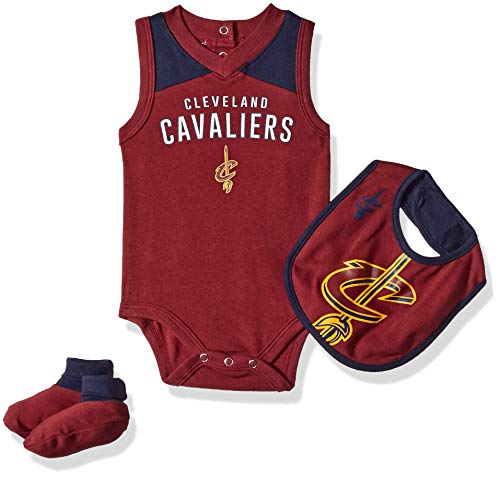 f931c488d NBA by Outerstuff NBA Newborn & Infant Cleveland Cavaliers Overtime  Bodysuit, Bib & Bootie Set