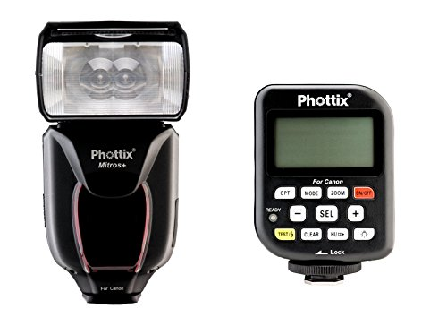Phottix PH80375 Mitros+ Odin V1.5 Camera Flash & Transmitter Combo for Canon (Black) by Phottix
