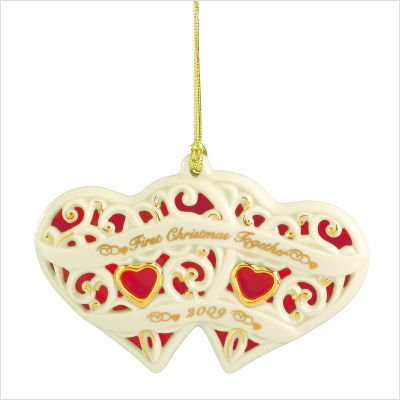 Lenox 2009 Together for Christmas Heart Ornament