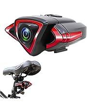 Amiispe JTLB Bike Cam, fiets-recorder met WiFi-telefoonbediening, fietscode-tabel, HD-camera, autocamera, wifi, groothoek, fietsknipperlichten, real-time opname
