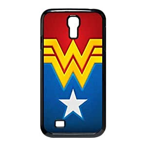 Custom wonder woman logo black plastic Case for SamSung Galaxy S4 I9500 cover at luckeverything store Kimberly Kurzendoerfer