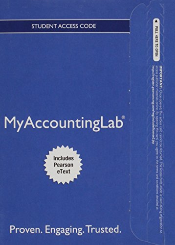 MyLab Accounting with Pearson eText — Access Card — for Horngren's Financial & Managerial Accounting, The Financial Chapters (My Accounting Lab)