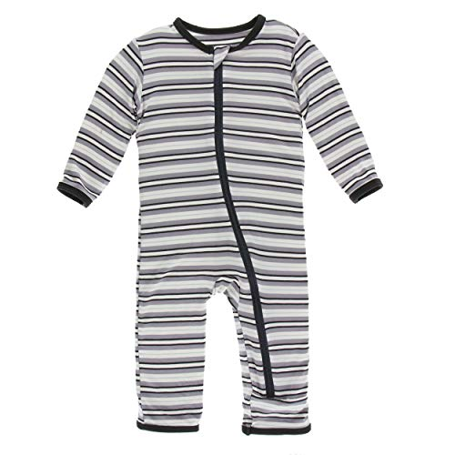 Kickee Pants Little Boys Print Coverall with Zipper - India Pure Stripe, 18-24 Months