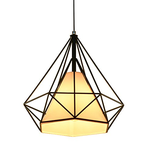 Pendant Light CZ2701 110V-240V with Double Art Steel Lampshade Dimension:15.7