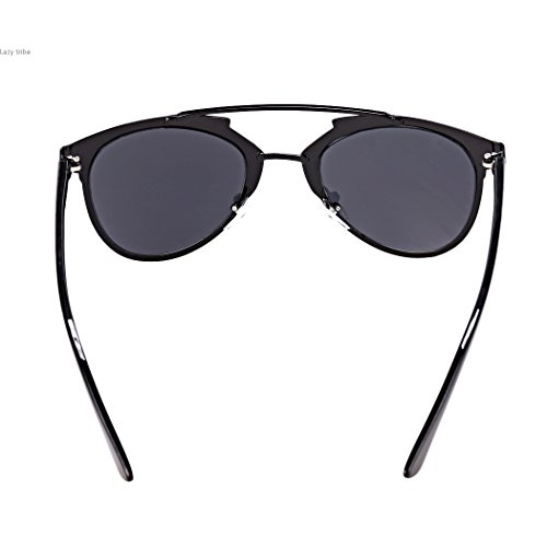 lunettes Style unisexe lunettes métal bleu lunettes vintage cadre soleil miroir de PwqxTrtwC