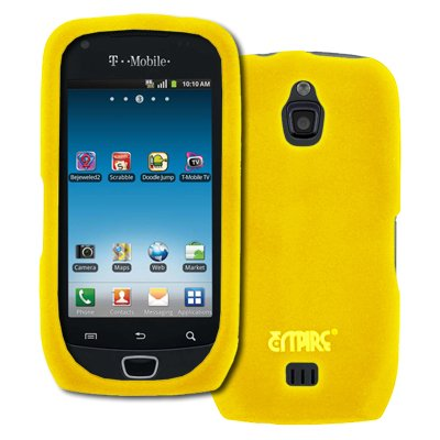 EMPIRE Gelb Silicone Skin Case Tasche Hülle Cover + Auto Charger (CLA) for T-Mobile Samsung Exhibit 4G