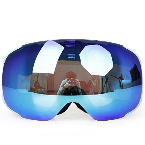 Ski Goggles,COPOZZ G2 Magnetic Ski Snowboard Snow Goggles - Quick Interchangeable Double Lens Anti Fog UV400 Over Glasses OTG Helmet Compatible - For Men Women Youth Unisex skiing snowboarding