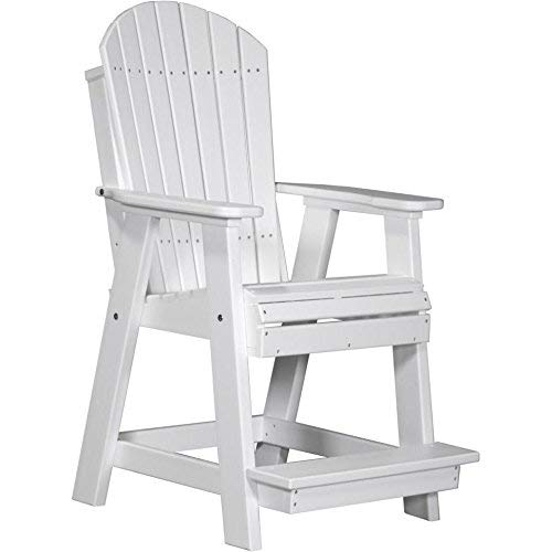 - LuxCraft Recycled Plastic Adirondack Balcony Chair